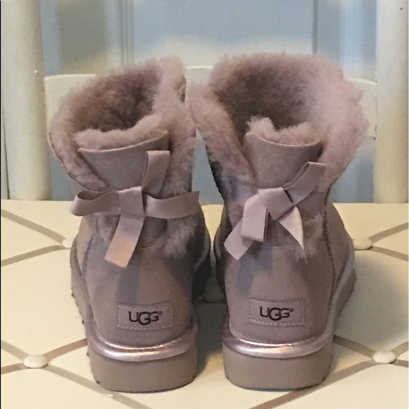 ugg mini bailey bow ii metallic